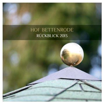 HOF BETTENRODE-Rückblick 2013
