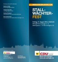 STALL- WÄCHTER- FEST - CDU Esslingen am Neckar