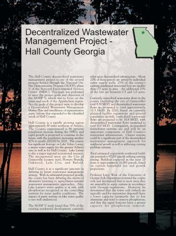 Decentralized Wastewater Management Project - Hall ... - Zabel