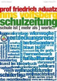 Schulzeitung - nms Voitsberg - Ausgabe 5