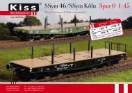SSym 46/SSym Köln Spur 0 1:45 - Kiss Modellbahnen