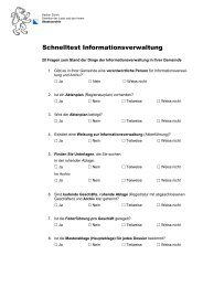 Schnelltest Informationsverwaltung - Staatsarchiv - Kanton Zürich