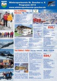 Jahresprogramm 2013 / 2014 - Wintersportverein St. Gescher e.V.