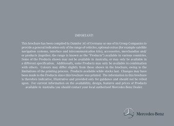 SLK-Class Accessories Brochure - Mercedes-Benz