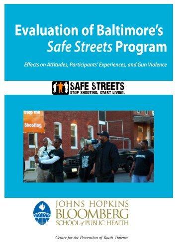 evaluation of Baltimore's Safe Streets program - Johns Hopkins ...