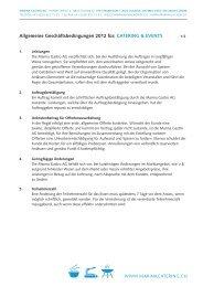 Allgemeine Geschäftsbedingungen 2012 für ... - Eventlokale.com