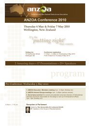 Programme - Australian and New Zealand Ombudsman Association ...