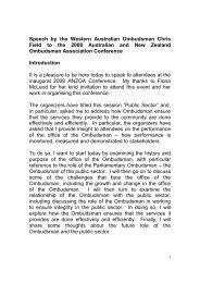 Chris Field - Australian and New Zealand Ombudsman Association ...