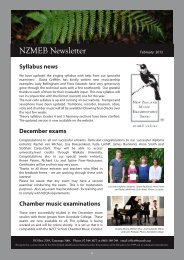 February 2012 - New Zealand Music Examinations Board