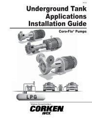 Underground Tank Applications Installation Guide - Corken