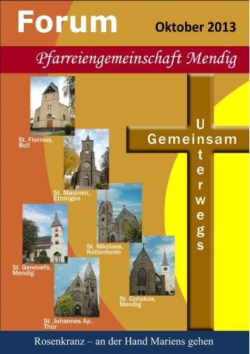 Forum Oktober 2013 - Pfarreiengemeinschaft