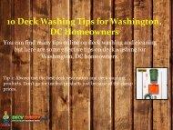 10 Deck Washing Tips for Washington, DC Homeowners