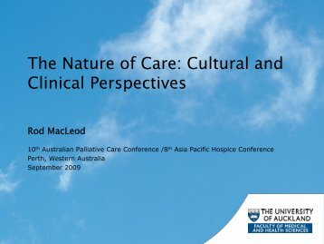 The Nature of Care: Cultural and Clinical Perspectives