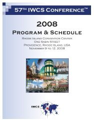57 IWCS Conference Program & Schedule