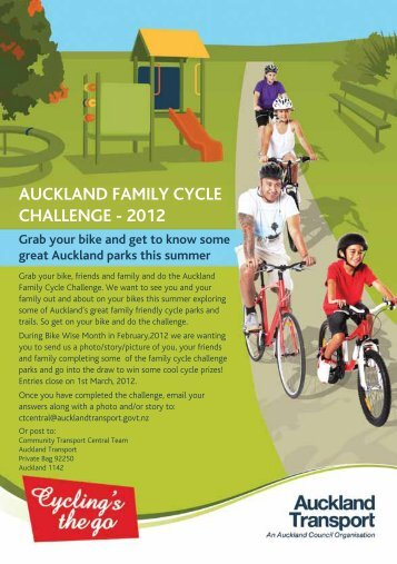 AucklAnd FAmily cycle chAllenge - 2012 - Auckland Transport