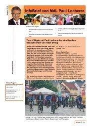 InfoBrief von MdL Paul Locherer - CDU Leutkirch