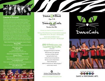 Dance Cats Brochure - Action Day Primary Plus