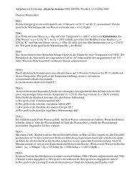 """Aufgaben zur Vorlesung: """"Physik für Mediziner"""" WS 2007/08, Woche ..."""