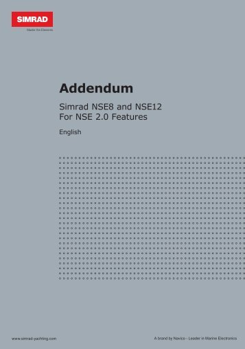 NSE 2.0 Addendum - Simrad Professional Series - Simrad Yachting