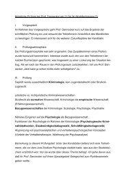 Mündliche Prüfung bei Prof. Dannecker am 21.04.04 ... - Jurawelt