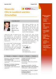 Neues der CDU in Leutkirch und den Ortschaften