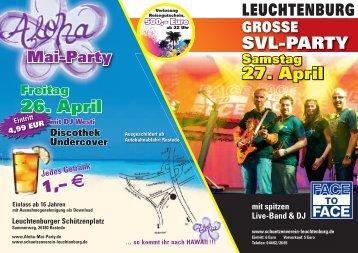 26. April 27. April SVL-PARTY