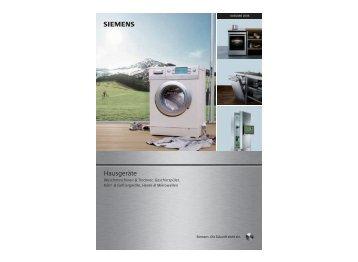 Hausgeräte S - Siemens Hausgeräte