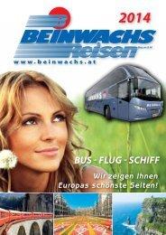 BEINWACHS REISEN - KATALOG 2014