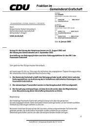 Fraktion im Gemeinderat Grafschaft - CDU Ortsverband Grafschaft