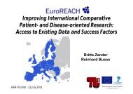 Improving International Comparative Patient- and ... - TU Berlin