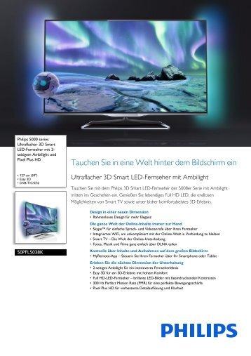 Leaflet 50PFL5038K_12 Released Germany (German) High-res A4.fm