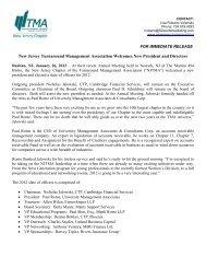 New Jersey Turnaround Management Association Welcomes New ...