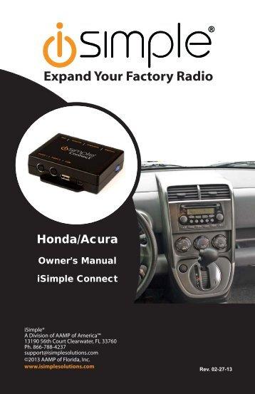Owner's Manual - PAC Audio