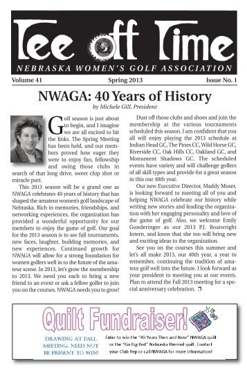 Spring 2013 - Nebraska Women's Amateur Golf Association
