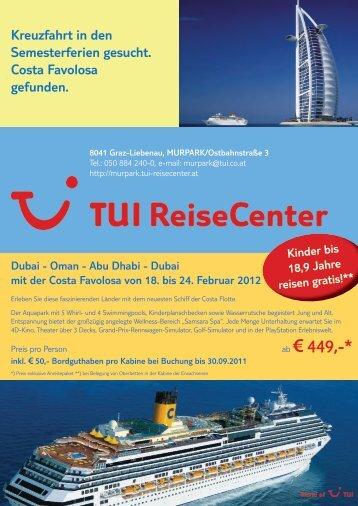 tuirc-murpark-costa eigenreise-0811.indd - TUI ReiseCenter