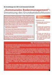 """""""Kommunales Bodenmanagement"""": - CDU Ortsverband Grafschaft"""