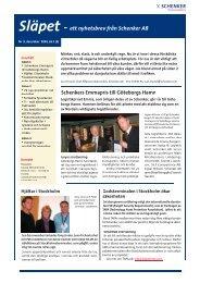 Släpet - ett nyhetsbrev från Schenker AB