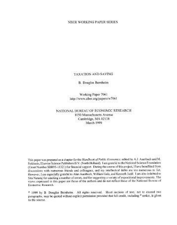 Bernheim 1999 - Thomas Piketty