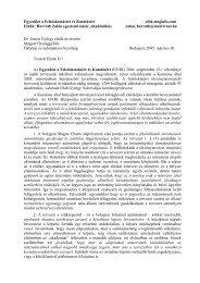 Az EFOK véleménye a törvénytervezetről az Oktatási és tudományos ...