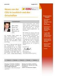 Neues von der CDU in Leutkirch und den Ortschaften