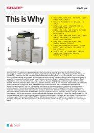 MX-3110N-Daugiafunkcis spausdintuvas, skaitmeninis ... - Sharp