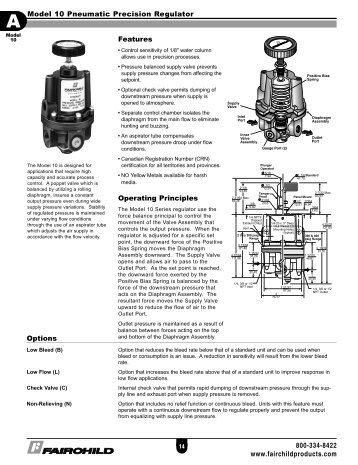DATASHEET: Fairchild Model 4500A Pneumatic Volume Booster