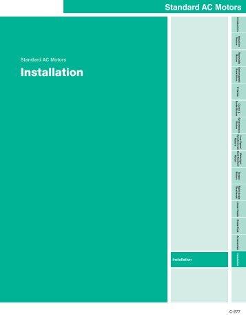 Installation - Oriental Motor