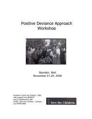 Positive Deviance Workshop report - Positive Deviance Initiative