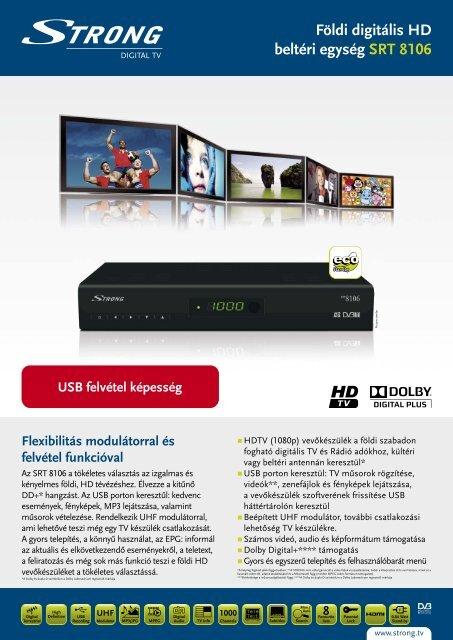 Földi digitális HD beltéri egység SRT 8106 - STRONG Digital TV
