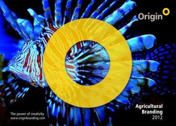 Agricultural Branding 2012 - Origin Brand Consultants