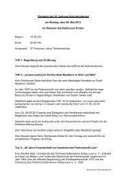 Protokoll der 35.Kulturkonferenz 06.05.2013 - Soltau