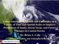 Using Atmospheric Models and Ensembles on a Variety of Time and ...