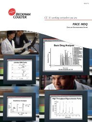 CE. It's working everywhere you are. P/ACE™ MDQ - Beckman Coulter
