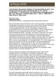 Julia Murken: Bayerische Soldaten im ... - Sehepunkte